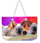 Cute Siamese Kittens Cats  Weekender Tote Bag