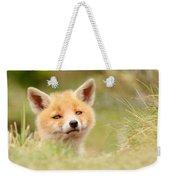 Cutie Face _red Fox Kit Weekender Tote Bag
