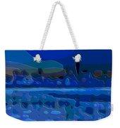 Cutout Art Blue Landscape Weekender Tote Bag