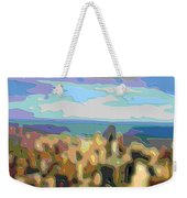 Cutout Art Ocean Skyline Weekender Tote Bag