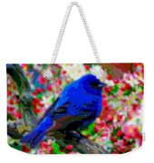 Cutout Layer Art Animal Portrait Bird Blue Weekender Tote Bag
