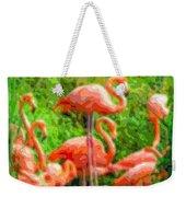 Cutout Layer Art Animal Portrait Flamingo Weekender Tote Bag