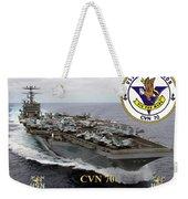 Cvn-70 Uss Carl Vinson Weekender Tote Bag