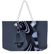Bluegray Zebra Weekender Tote Bag