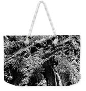 Cycads At Cliffs' Edge Black And White Weekender Tote Bag