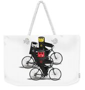Cycling Recycle Bins Weekender Tote Bag