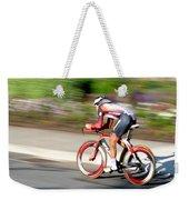 Cyclist Time Trial Weekender Tote Bag