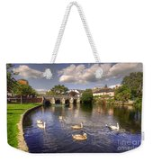 Cygnets At Christchurch  Weekender Tote Bag