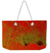Cyperus Papyrus Abstract Weekender Tote Bag