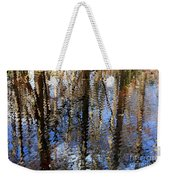 Cypress Reflection Nature Abstract Weekender Tote Bag by Carol Groenen