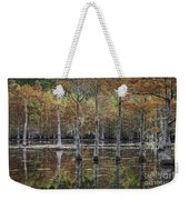 Cypress Tree Fall Reflections Weekender Tote Bag
