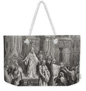 Cyrus Restoring The Vessels Of The Temple Weekender Tote Bag by Gustave Dore