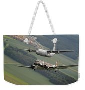 D Day Past And Present Weekender Tote Bag