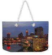 D101l Columbus Ohio Night Skyline Photo Weekender Tote Bag