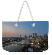 D2l448 Columbus Ohio Night Skyline Photo Weekender Tote Bag