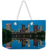 D2l64 Columbus Ohio Skyline Weekender Tote Bag