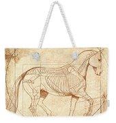 da Vinci Horse in Piaffe Weekender Tote Bag