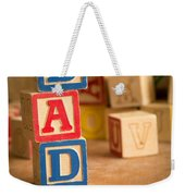 Dad - Alphabet Blocks Fathers Day Weekender Tote Bag