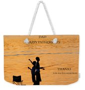 Dad Happy Father's Day Weekender Tote Bag
