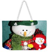 Daddy And Baby Snowmen Decorations Weekender Tote Bag