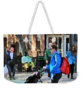 Daddy Pushing Stroller Greenwich Village Weekender Tote Bag