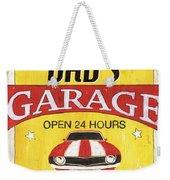 Dad's Garage Weekender Tote Bag by Debbie DeWitt