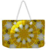 Daffodil And Easter Lily Kaleidoscope Under Glass Weekender Tote Bag