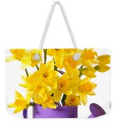 Daffodil Display Weekender Tote Bag by Amanda Elwell