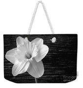 Daffodil Narcissus Flower Black And White Weekender Tote Bag