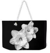 Daffodil Flowers Black And White Weekender Tote Bag