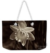Daffodil In Black And White Weekender Tote Bag