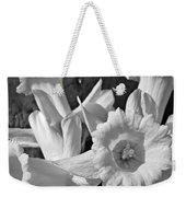Daffodil Monochrome Study Weekender Tote Bag