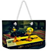 Daffy Tweety And Johnny Weekender Tote Bag