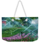 Dahlia Field Farm Scene Weekender Tote Bag