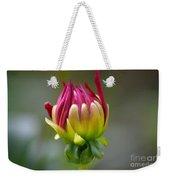 Dahlia Flower Bud Weekender Tote Bag