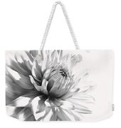 Dahlia Flower In Monochrome Weekender Tote Bag