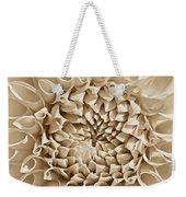 Dahlia Flower Star Burst Sepia Weekender Tote Bag
