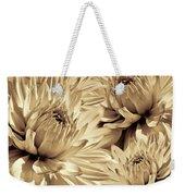 Dahlia Flowers Bouquet Sepia Weekender Tote Bag