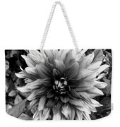 Dahlia In Black And White Weekender Tote Bag