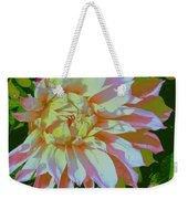 Dahlia In Pink And White Weekender Tote Bag