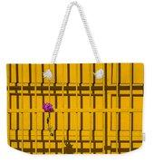 Dahlia In Yellow Gate Weekender Tote Bag