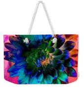 Dahlia With Textures Weekender Tote Bag