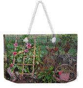 Dahlias And Chickens Weekender Tote Bag