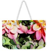 Dahlias And Hydrangeas Bouquet Weekender Tote Bag