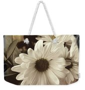 Daisies And Charcoal Weekender Tote Bag
