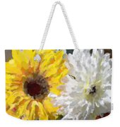 Daisies And Sunflowers - Impressionistic Weekender Tote Bag