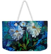 Daisies At Midnight Weekender Tote Bag