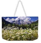 Daisies At Mount Robson Weekender Tote Bag by Elena Elisseeva