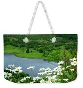 White Daisies At Queens View Weekender Tote Bag