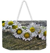 Daisies In Wreath Weekender Tote Bag